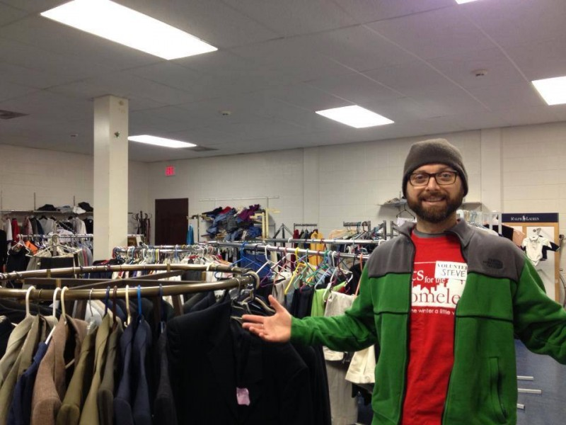 Calvary Clothing Closet, which shares the building with Ella's, and is available for free shopping to those in need